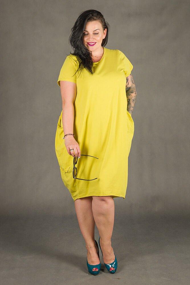 Żółta Sukienka GALOPPE Plus Size