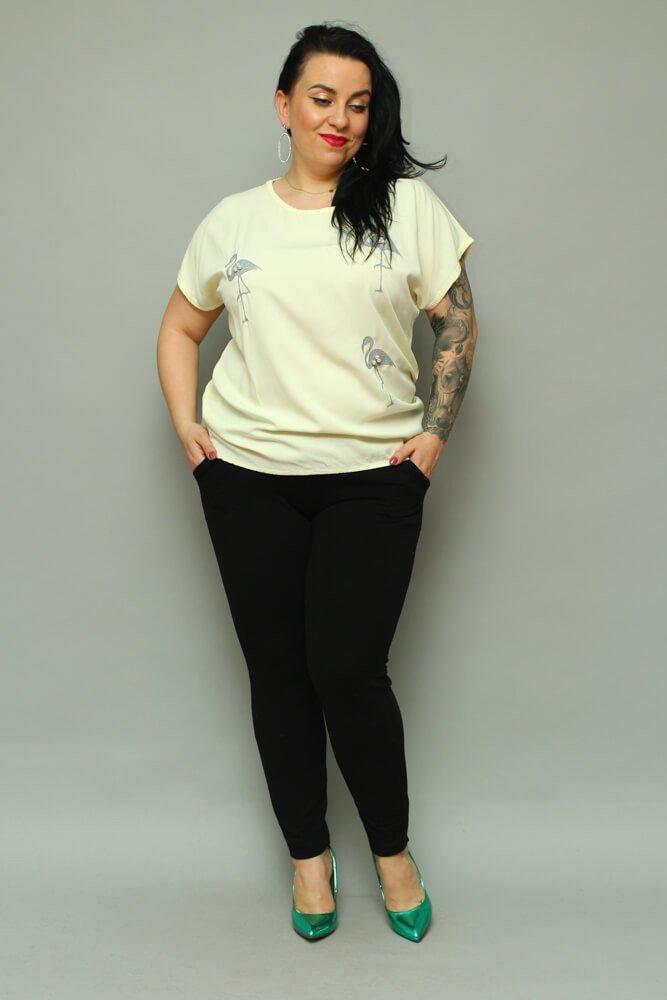 Żółta bluzka damska BRESSA Flaming Plus Size